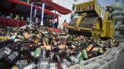 «Левый» алкоголь отправят под бульдозер